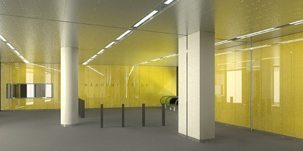 Vizualizace nové stanice Národní třída
