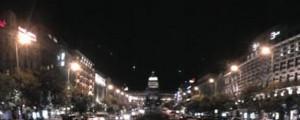Noční Václavské náměstí