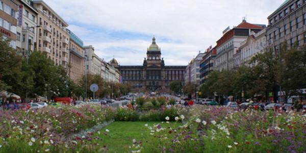 Václavské náměstí s Národním muzeem