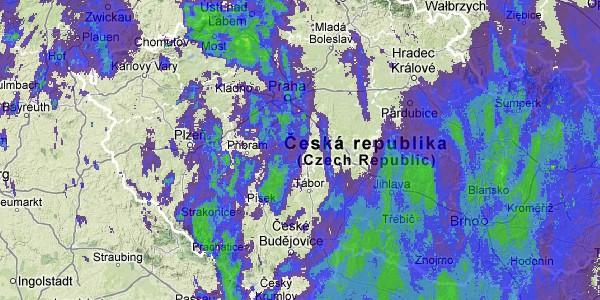 Radarová mapa - Počasí